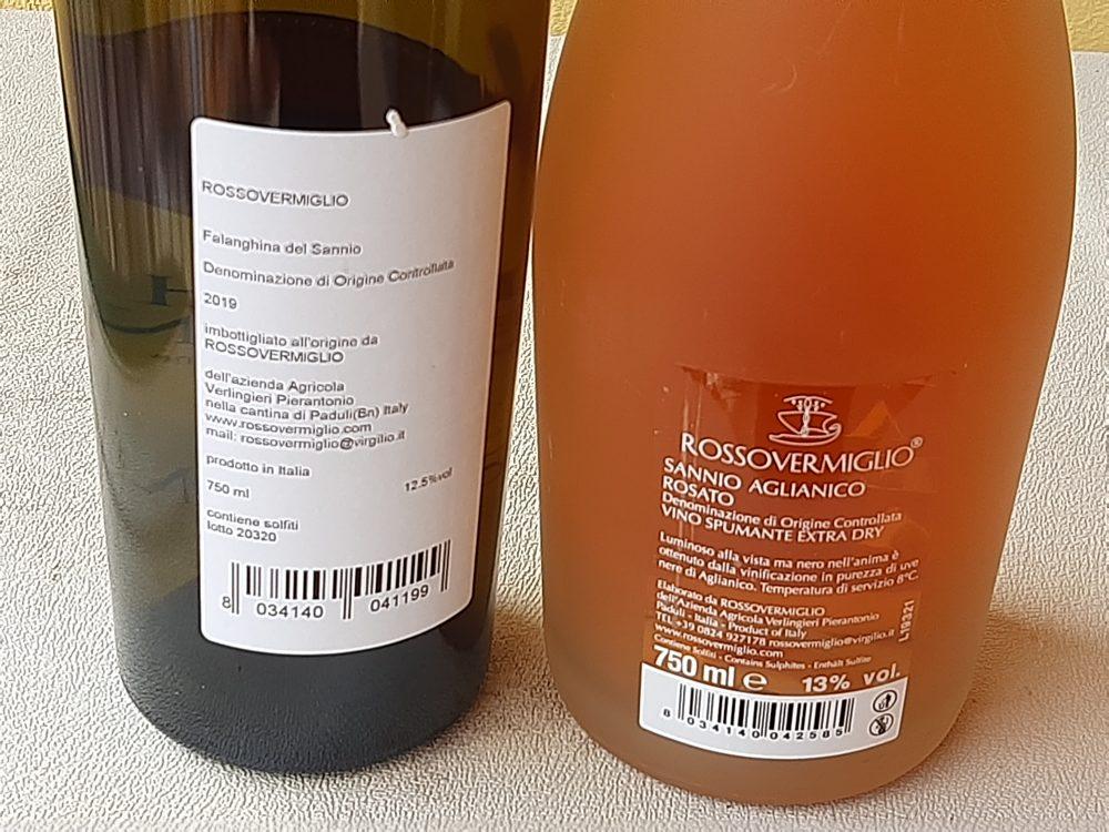 Controetichette vini Rosso Vermiglio
