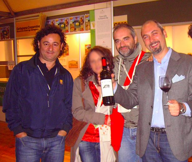 Salone del Gusto 2010, da sx, Alessandro Barletta, Franco Archidiacono, Oto Tortorella