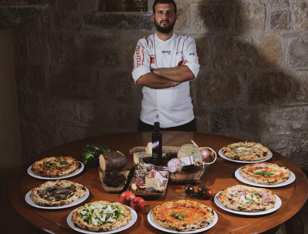 Il pizzaiolo Angelo Rumolo di Grotticelle a Caggiano