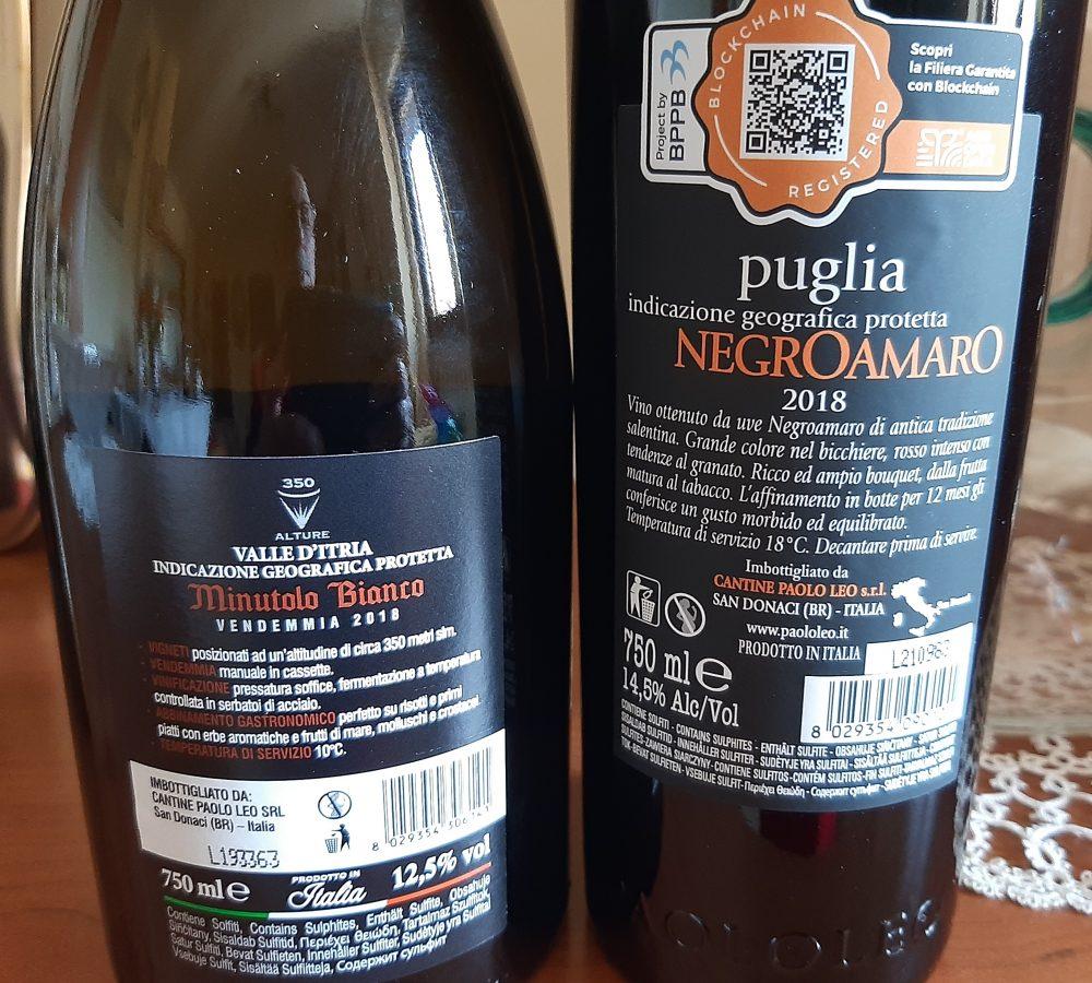 Controetichette vini Paolo Leo