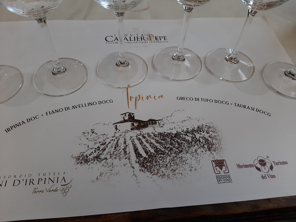 Degustazione vini da Tenuta Cavalier Pepe
