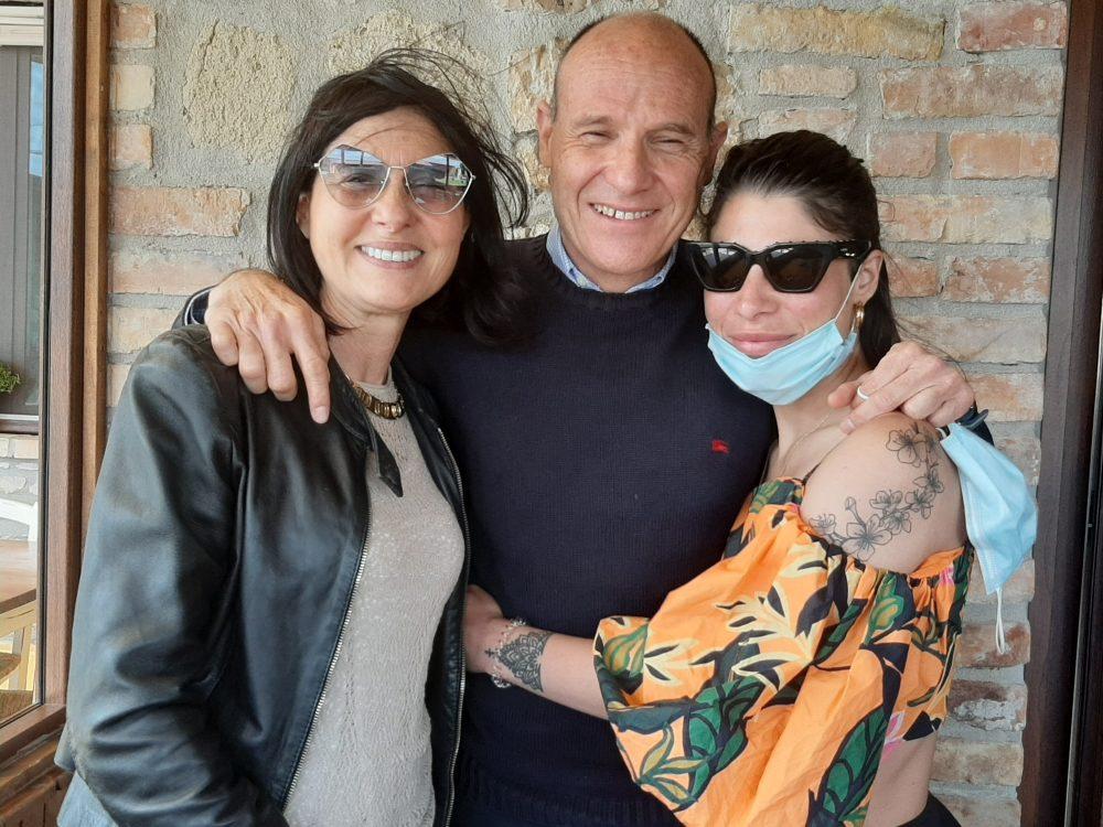 Ida e Tani Avallone con Cristina