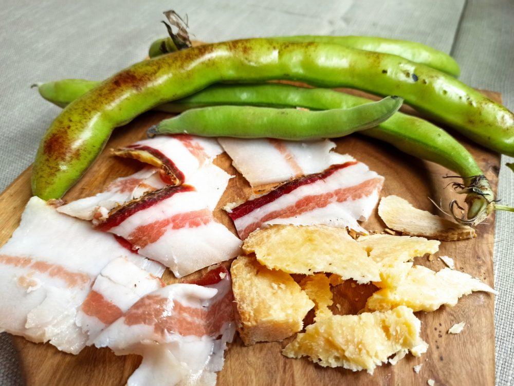 L'Oste & il Porco - Fave fresche, Pancetta artigianale e Pecorino stagionato di Bagnoli Irpino