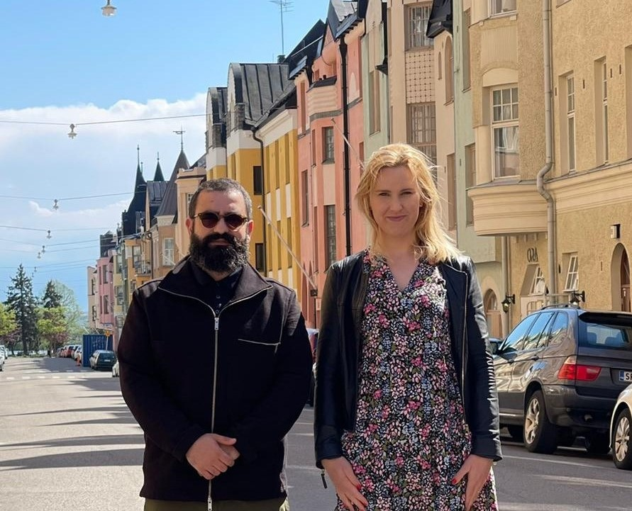 Luca Platania e la moglie Salla ph. Sebastian Platania