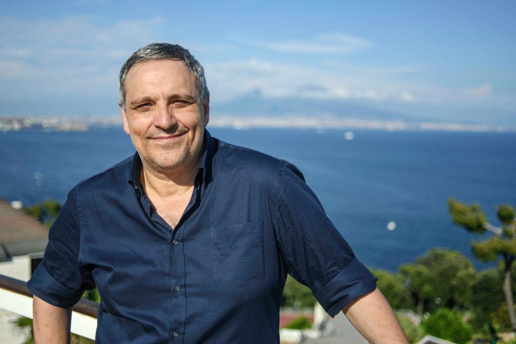 Lo scrittore Maurizio de Giovanni