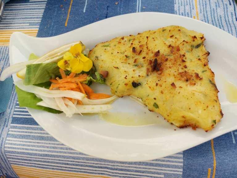 Pascalo', filetto di orata in crosta di patate e limone