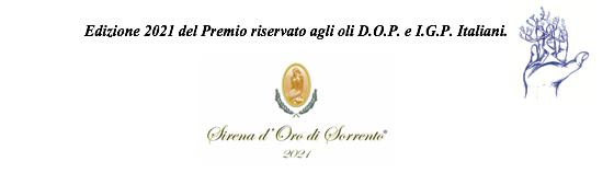 Premio Nazionale riservato esclusivamente agli oli a DOP e a IGP Italiani Edizione 2021