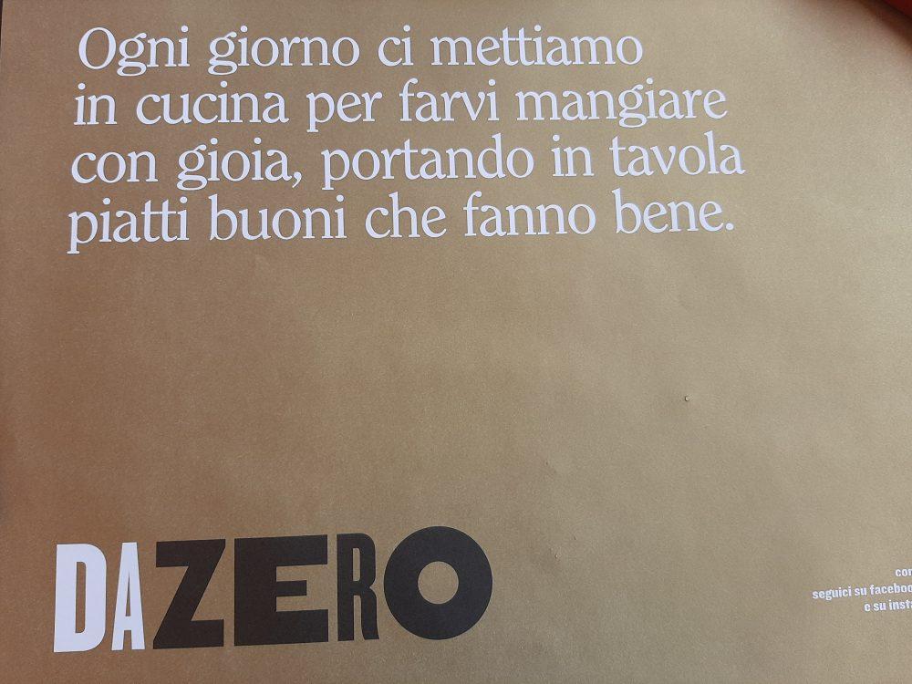 Uno dei tanti slogan di Pizzeria Dazero