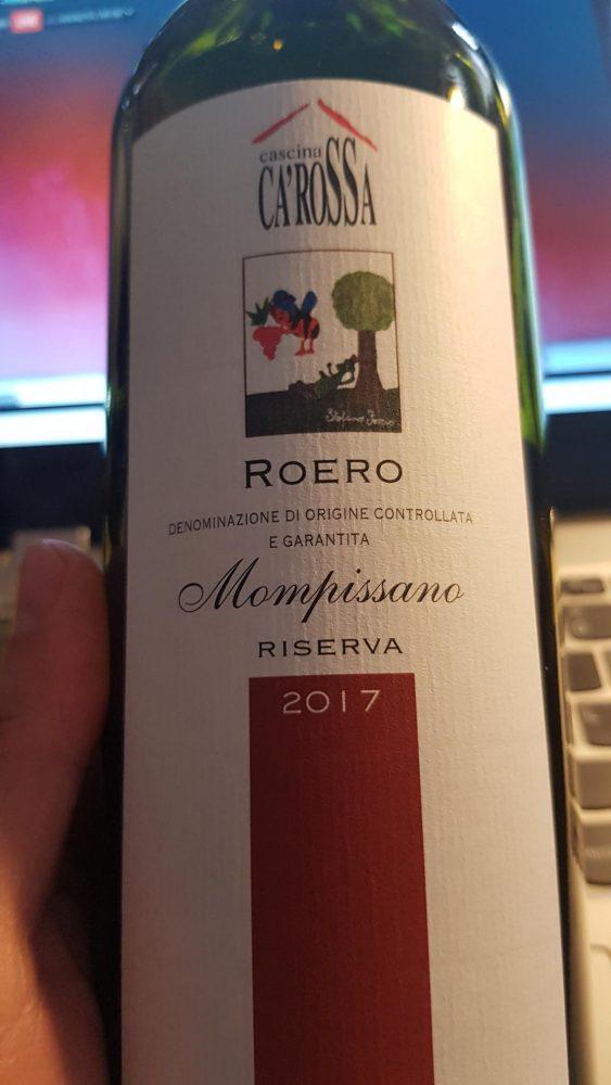 Cascina Ca' Rossa – Roero Riserva Mompissano 2017