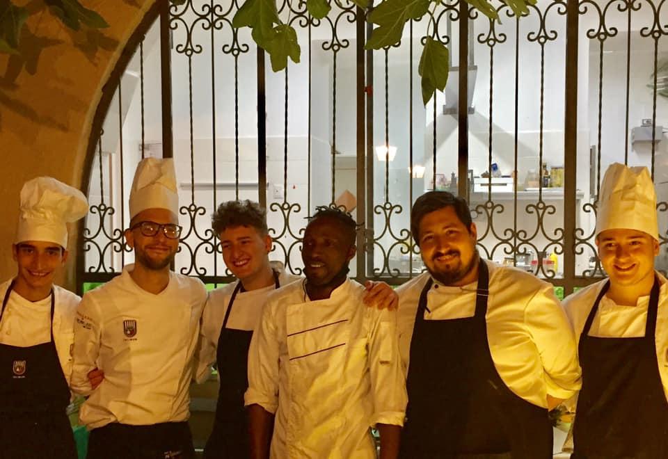 Ristorante Pancrazio Palazzo Gentilcore, la squadra con lo chef Marco Mattia