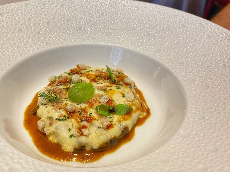 Villa Crespi - Zuppa forte, cipolle, patate affumicate e cotica