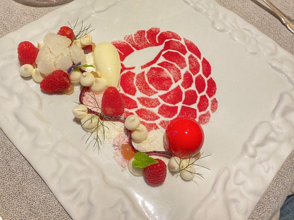 Villa Crespi - Dessert Lampone e rafano