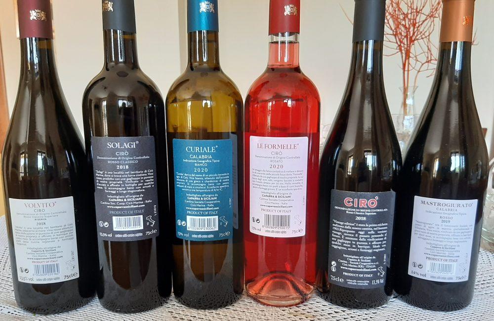 Controetichette vini Caparra & Siciliani