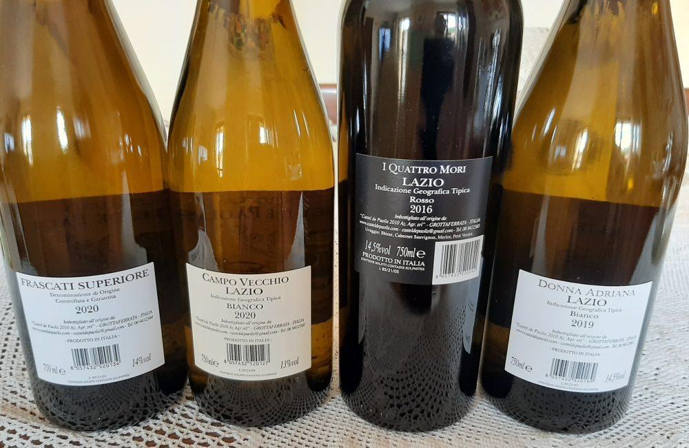Controetichette vini Castel De Paolis