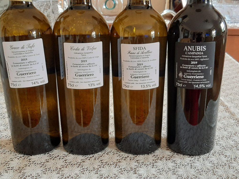 Controetichette vini Guerriero