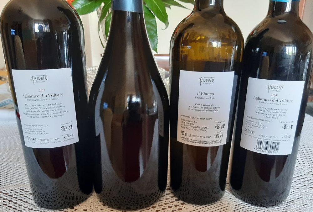 Controetichette vini Quarta Generazione Giovanna Paternoster