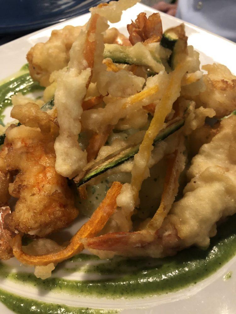 Controvento - gamberone in tempura