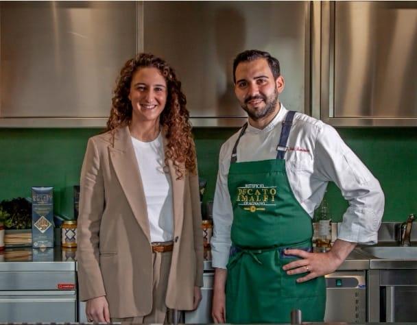 Daniela Caso con lo chef Stile