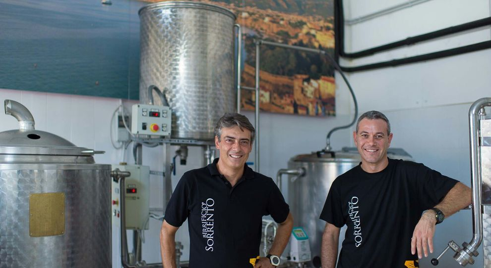 Francesco Galano e Giuseppe Schisano del Birrificio Sorrento