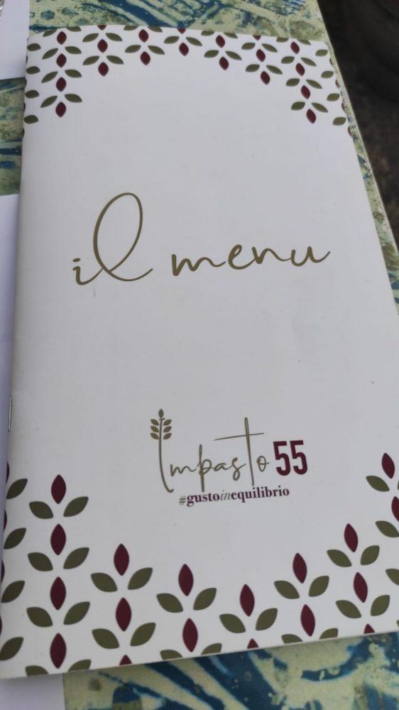 Impasto55 - il menu
