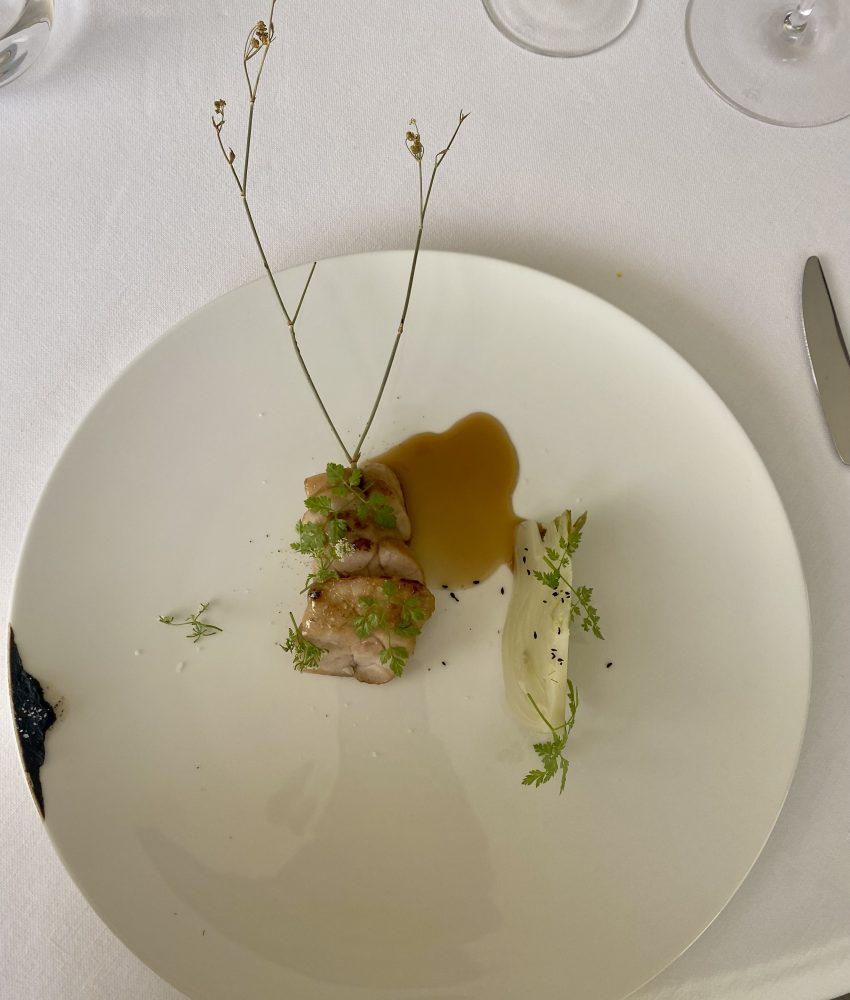 Marotta Ristorante - Animella, finocchio, aglio nero e anice nero