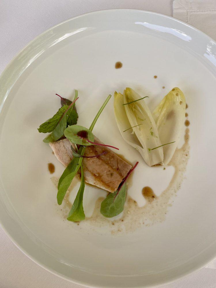 Marotta Ristorante - Maiale al combawa, indivia e salsa ponzu