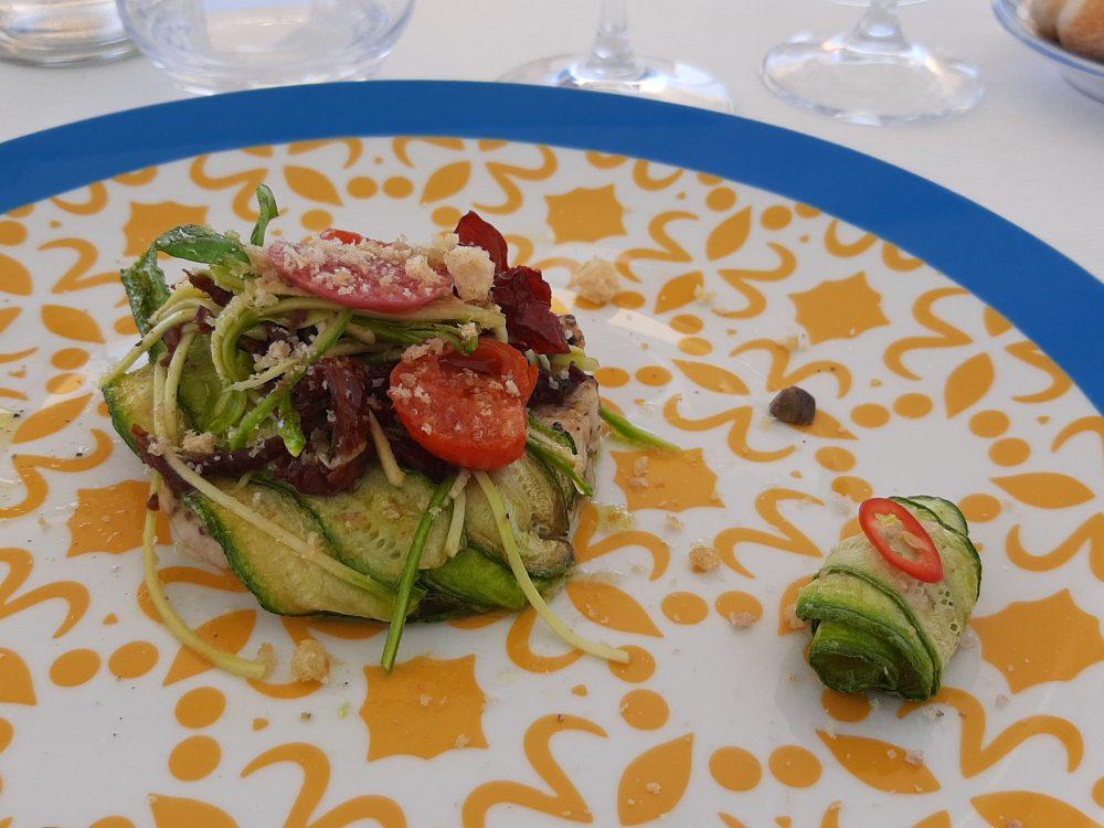 Riatorante Melchio' - Sandwich di pesce con zucchine