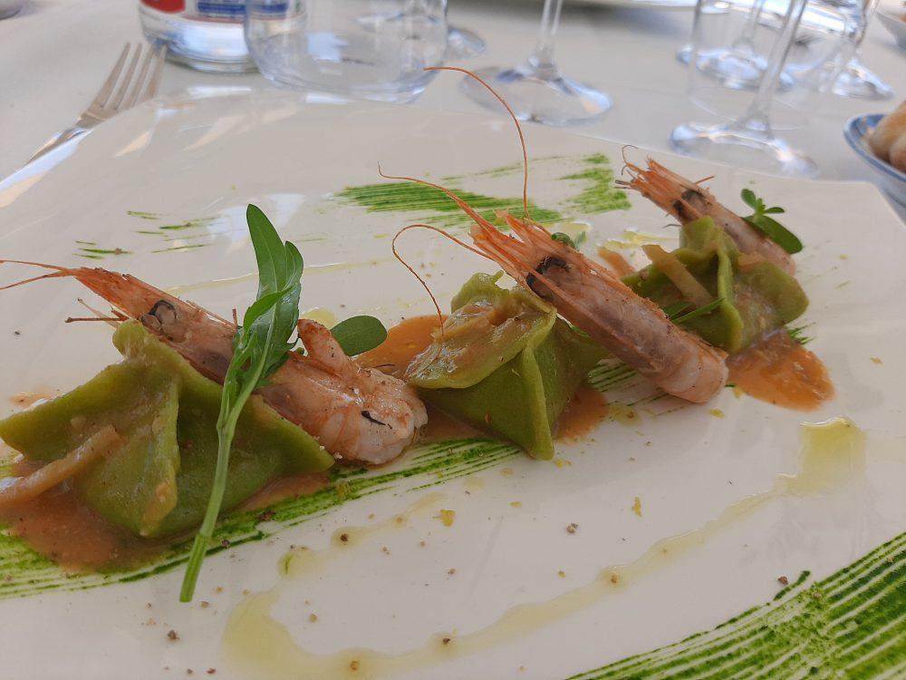 Ristorante Melchio' - Ravioloni di pasta di spinaci