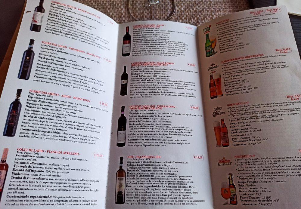 Sua Maesta' - La Carta dei Vini e delle Birre