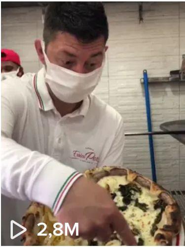 La pizza con 2 milioni e 800 mila visualizzazioni