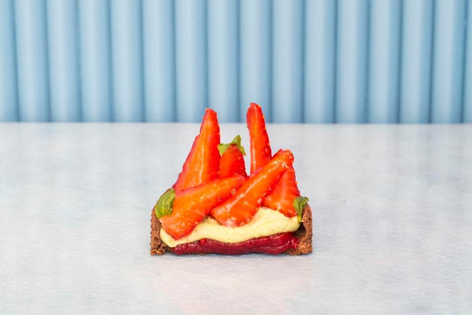Celestina Pasticceria - tarte fraise et basilic