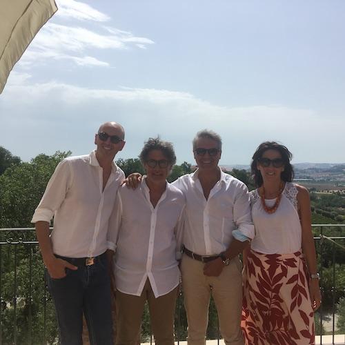 Filippo Cornacchia, Goffredo Agostino, Andrea De Palma e Caterina Cornacchia