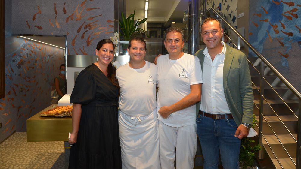 Grotta Azzurra Gourmet - Adelmo e Irma con i pasticcieri Vittorio e Salvatore