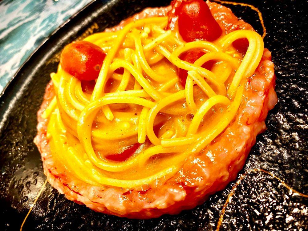 Innovative a figlia do marinaro - Spaghetto con Gamberi Rossi