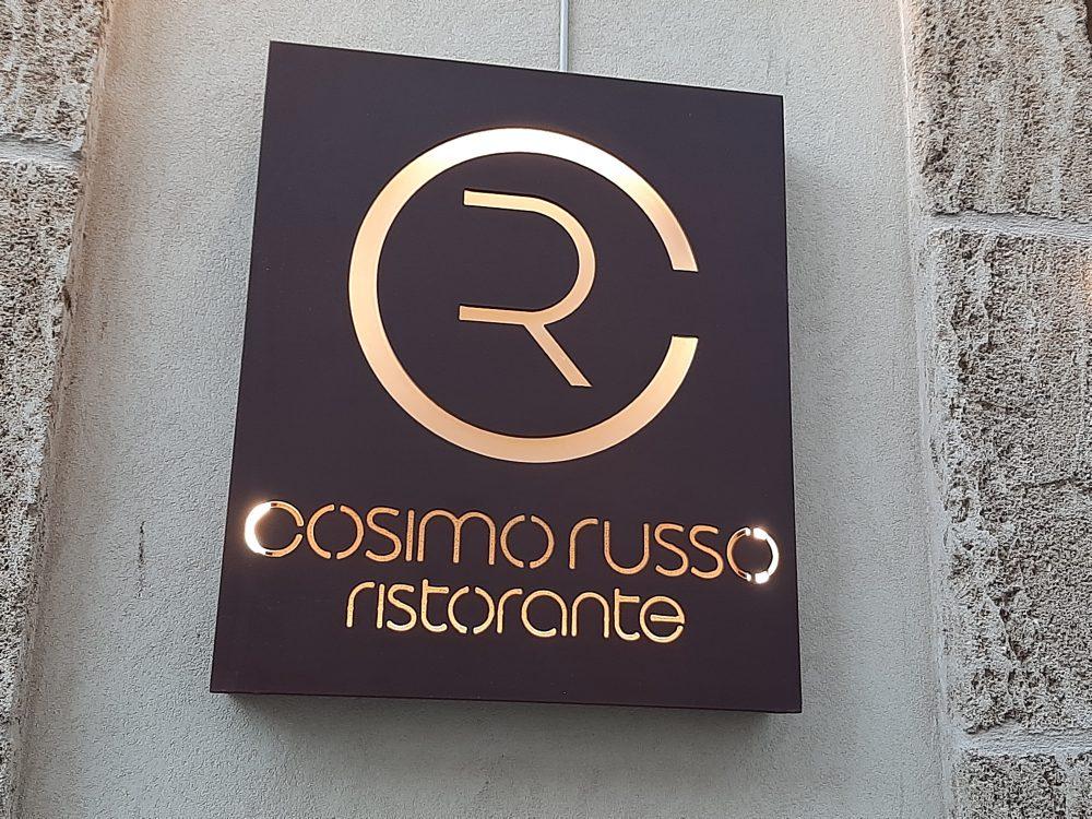 Insegna Cosimo Russo Ristorante