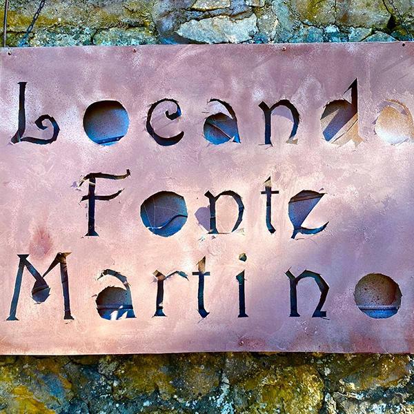 Locanda di Fonte Martino - insegna