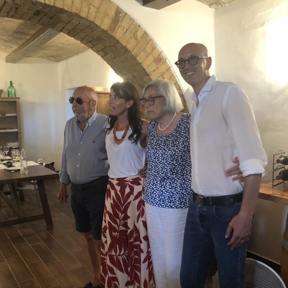 Papa' Piero, Caterina, la mamma e Filippo Cornacchia