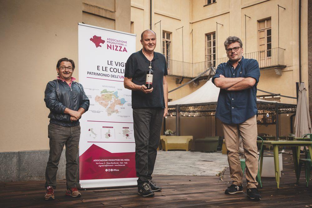 da sin. Daniele Chiappone, Stefano Chiarlo, Gianni Bertolino - Associazione Produttori del Nizza