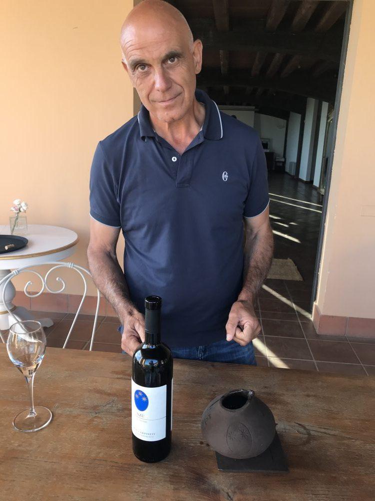 Marco Carpineti con brocchetta