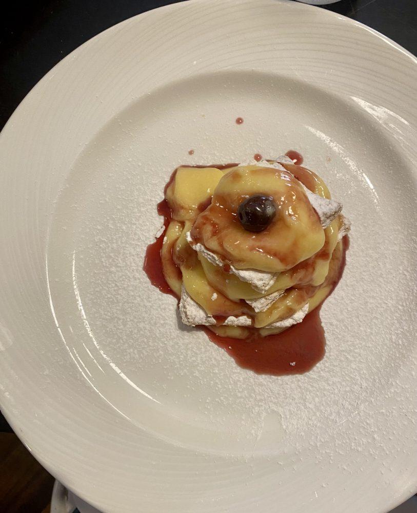 Millefoglie, crema pasticcera e amarene di Pontelatone - Nunziatina