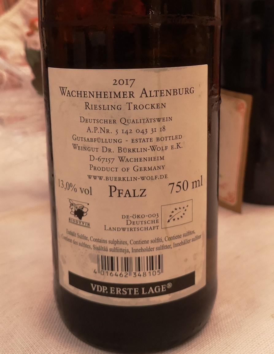 Riesling Trocken Wachenheimer Altemburg 2017