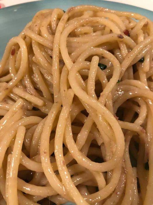 Spaghettone con colatura