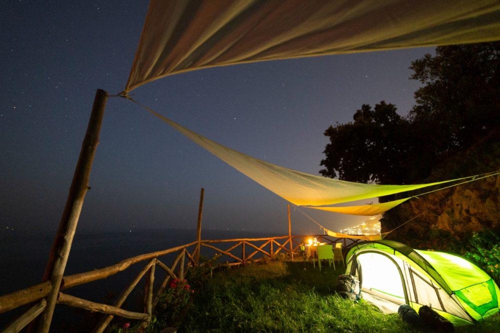 Terrazza e tenda