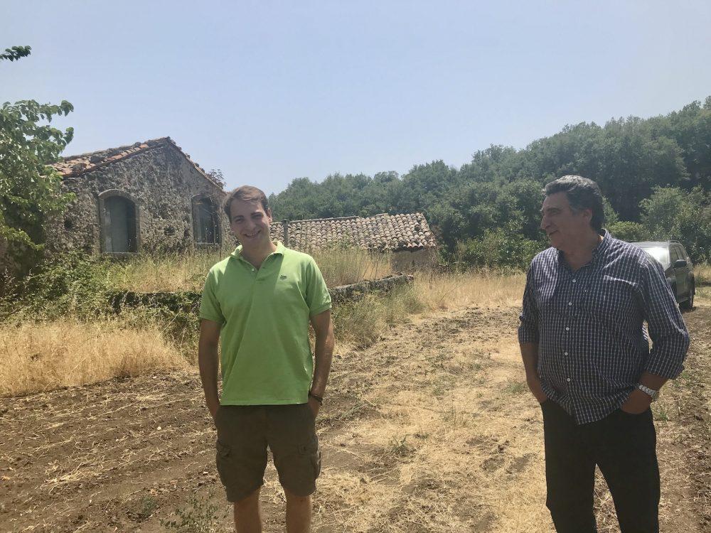 Giuseppe, a destra, e Giorgio Mannino