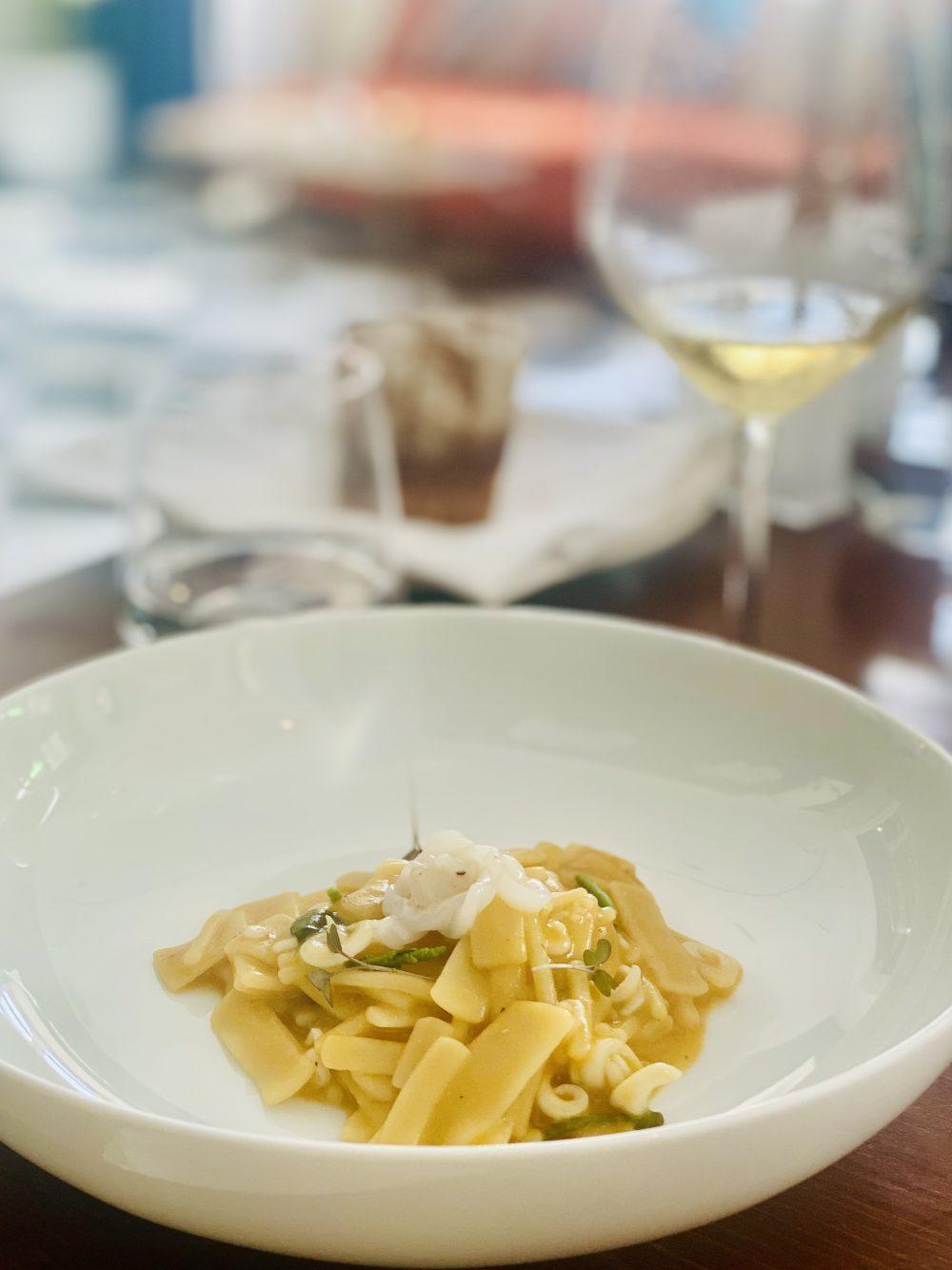 Boccadoro - Mischiato delicato con pomodorini gialli, calamaretti e asparagi di mare