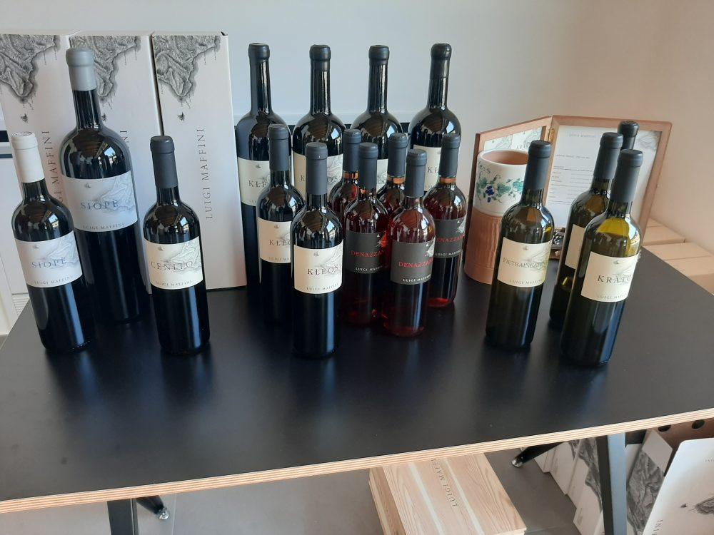Bottiglie di vino azienda Luigi Maffini