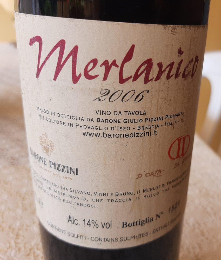 Controetichetta Merlanico Vino da Tavola 2006 Barone Pizzini