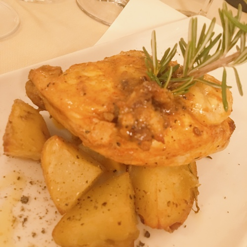Galletto ruspante e patate