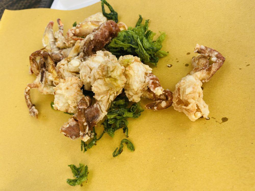 La Capanna di Eraclio - Granchio blu fritto molecato