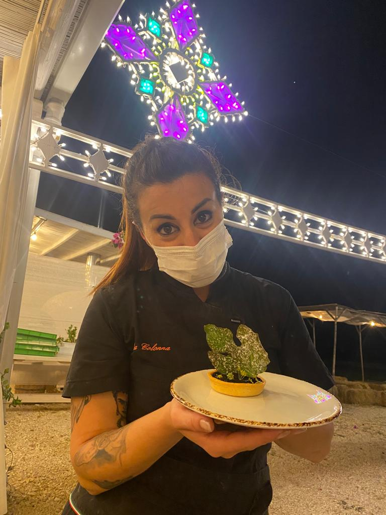 Lilia Colonna con il dolce